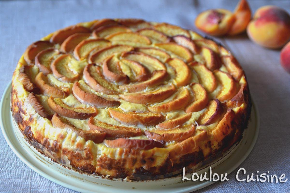 Cheesecake cu caise sau piersici – fara gluten