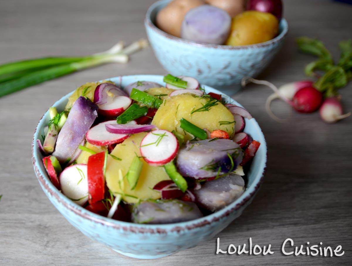 Salata colorata de cartofi