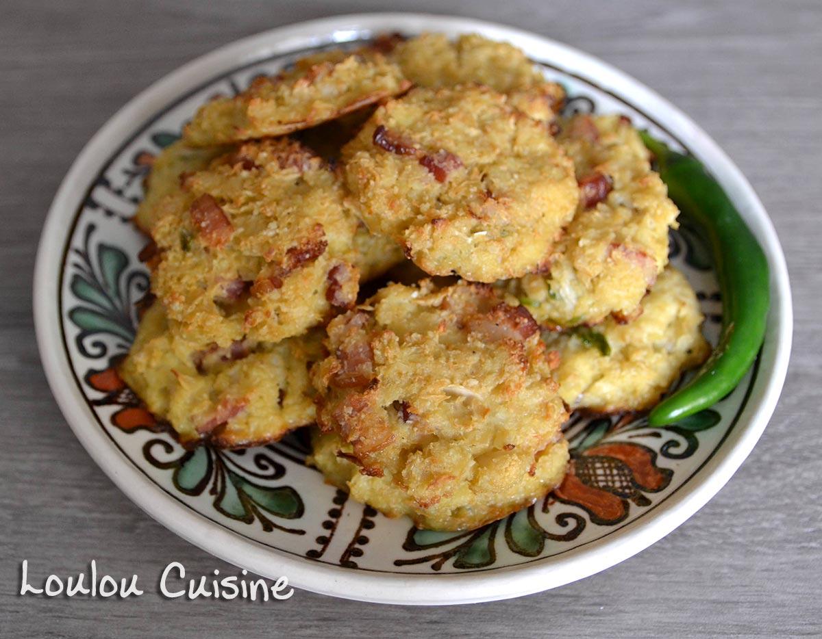 Biscuiti din conopida cu bacon – fara gluten